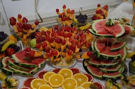 arrangement fruit beautiful fruit arrangement for wedding stock photo