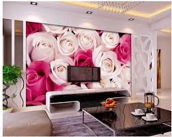 Korean Wallpaper Home Decor 3d Flower Wallpaper Rose 3d Wallpaper Mural Non Woven Wallpaper