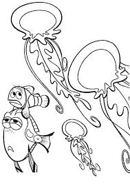 nemo and jellyfish coloring page download u0026 print online