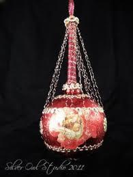 Antique Victorian Christmas Ornaments - 3 antique victorian glass fruit christmas ornaments click on the