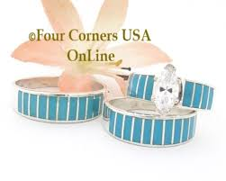 turquoise wedding rings turquoise bridal engagement ring sets navajo wedding rings