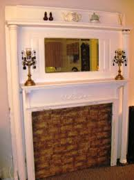 antique faux fireplace mantel