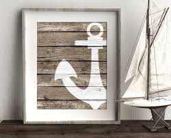 Nautical Bathroom Decor Ideas Best 25 Anchor Wall Decor Ideas On Pinterest Nautical Beach