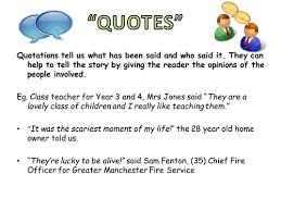 how to use quotation marks in reporting by katehitchen teaching
