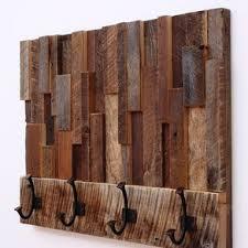 Reclaimed Barn Wood Art Custom Made Reclaimed Wood Art Coat Rack 24x18 5x4 By