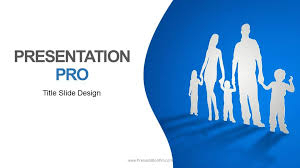 family powerpoint templates cutout family widescreen powerpoint