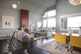 Gray And Yellow Living Rooms Photos Ideas And Inspirations - Color palette living room