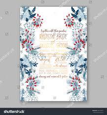 new years wedding invitations floral wedding invitation winter christmas wreath stock vector