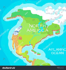 Map Of North America With Mountains by Australia Mainland Cartoon Relief Map Mountains Stock Vector