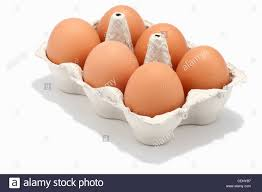 6 eggs in an egg box stock photo royalty free image 43420587 alamy