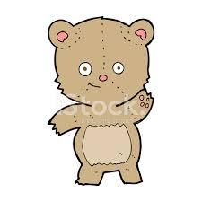 imagenes animadas oso dibujos animados agitando el oso de peluche stock vector