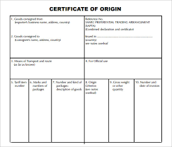 sample certificate of origin template 14 free documents in pdf
