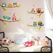compare prices on tree on walls online shopping buy low price owls on tree branch wall sticker for kids rooms wall art decals home decor wedding decoration