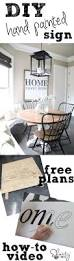 free dining room table plans diy large hand painted sign and how to video painted signs