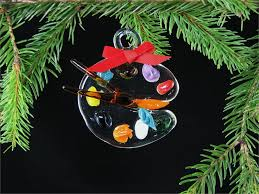 paintbrush palette ornament