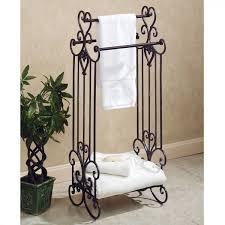 Metal Bathroom Shelves Bathroom Shelves Bathroom Black Standing Towel Rack Idea With