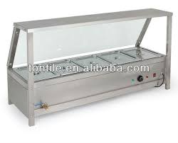 tontile five pans counter top buffet food warmer with display