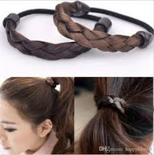 girls hair rings images Woman 39 s girls braided hairbands plaited hair ropes synthetic hair jpg
