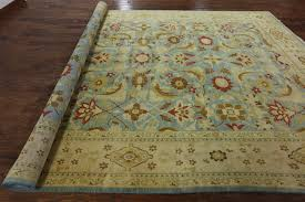 10 X 11 Rug 10 X 15 Hand Knotted Blue Persian Wool Area Rug H6251