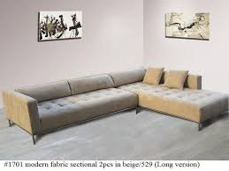 Modern Fabric Sectional Sofas Living Room Tufted Sectional Sofa New 2pc Modern Fabric Tufted