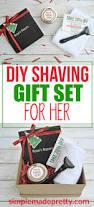 diy all natural shaving cream and razor gift basket for women