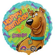 birthday balloons delivered scooby doo happy birthday balloon delivered inflated in uk
