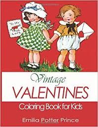 vintage valentines coloring book kids delightful collection