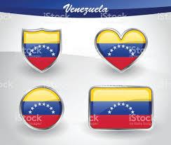 Venezual Flag Glänzende Venezuela Flag Iconset Vektor Illustration 695580564