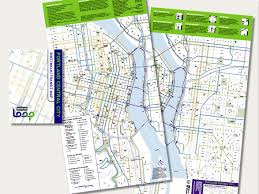 Portland Bike Maps by Central City Map Wilborndesign