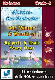 grade 4 science air water animal young clothes protect wb this