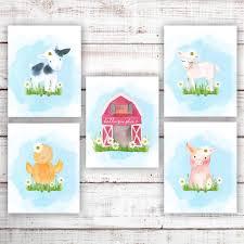 Farm Animal Nursery Decor Farm Nursery Farm Nursery Decor Farm Animals Nursery Prints