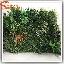 indoor artificial fake plant green wall hanging artificial flowers