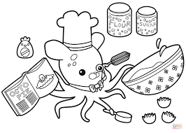 baking with professor inkling coloring page free printable