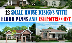 40 small house images designs with free floor plans lay out and
