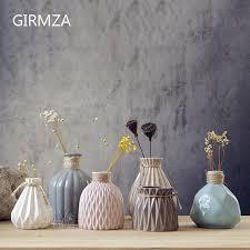 Striped Vase Giemza Pleated Vase Ceramics Blue Flowe Striped Vase Modern Pink