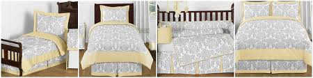 avery yellow and gray damask baby and kids bedding