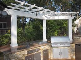 Pergola Kitchen Outdoor by Custom Carpentry Pergolas Long Island