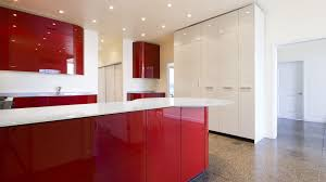 extraordinary parallel shape red kitchen come with red color