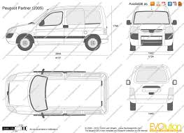 peugeot van 2000 the blueprints com vector drawing peugeot partner