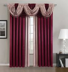 Burgundy Curtain Panels Sheraton Inspired Elegant Hilton Collection Window Curtain Panel