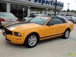 2007 ford mustang deluxe 2007 grabber orange ford mustang v6 deluxe convertible 56514001