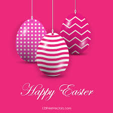 pink easter eggs easter eggs in pink background vector free 123freevectors