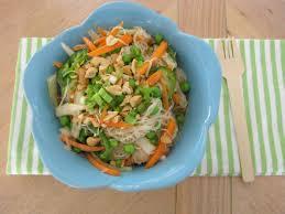 spicy orange rice noodle salad petit foodie