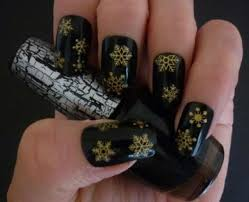 details about christmas gold snowflakes design 3d nail art