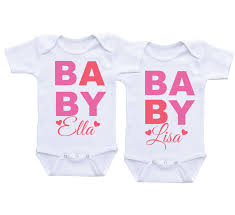 cute twin onesie for baby girlstwins onesie clothing for