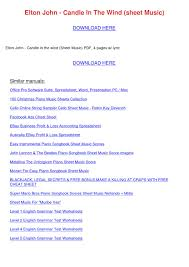 Ebay Spreadsheet Elton John Candle In The Wind Sheet Music By Arieltoliver Issuu