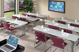 Light Weight Folding Table National Public Seating Lightweight Plastic Resin Seminar Folding