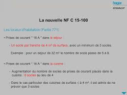 norme nfc 15 100 cuisine évolution de la norme nfc ppt télécharger