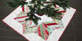 make a beautiful tree skirt from jelly roll strips quilting digest