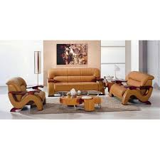 hokku designs chrysocolla 3 piece leather sofa set moderm room